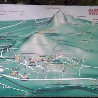 Схема терренкуров курортного парка г. Железноводск и горы «Железной»