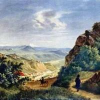 Лермонтов - Пятигорск, акварель